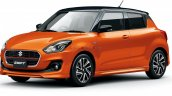 2020 Maruti Swift Facelift Orange Japan