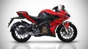 Bajaj Pulsar Rs400 Rendering Red D992