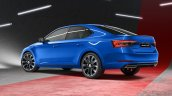 New Skoda Superb Facelift Sportline Rear Quarters