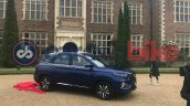 Mg Hector Plus Starry Sky Blue Front Quarters