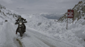 Royal Enfield Himalayan Karakoram Pass Snow