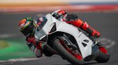 Ducati Panigale V2 White Action