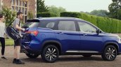 Mg Hector Plus Rear Three Quarters Ad