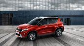 Kia Sonet Front Three Quarters Red Image