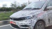 Tata Tiago Turbo Petrol Spy Shot Front Lt