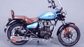 Royal Enfield Meteor 350 Blue Rhs