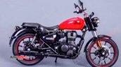 Royal Enfield Meteor 350 Red Rhs