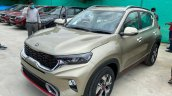 Kia Sonet Gt Line Beige Gold Left Three Quarters