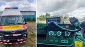2020 Tata Winger Ambulance Front Interior