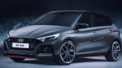 Hyundai Elite I20 Rendering Indianautosblog