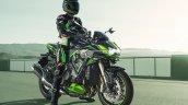 2021 Kawasaki Z H2 Se Front Right With Rider