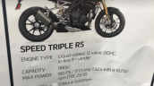 2021 Triumph Speed Triple 1200 Rs Specs Leaked
