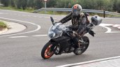 2021 Ktm Rc 390 Spy Shot Lean Left