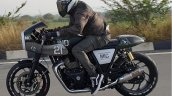 Modified Royal Enfield Interceptor 650 Action