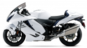2021 Suzuki Hayabusa White Blue Left Side