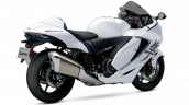 2021 Suzuki Hayabusa White Blue Rear Right