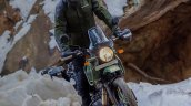2021 Royal Enfield Himalayan Pine Green Action