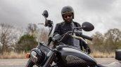 India Chief Bobber Dark Horse Closeup