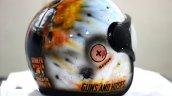 Custom Painted Pubg Theme Vega Helmet Rear 3 Quart