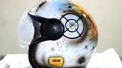 Custom Painted Pubg Theme Vega Helmet Side View