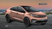 Tata Altroz Cross Coupe Rendering Fornt 3 Quarters