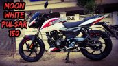 Bajaj Pulsar 150 Moon White Colour