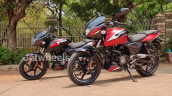 2021 Bajaj Pulsar 150 Twin Disc Red Front Quarter