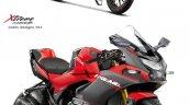 Hero Xtreme 160r Sportbike Rendering Details