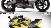 Tvs Ntorq Sportbike Rendering Comparo