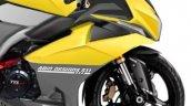 Tvs Ntorq Sportbike Rendering Front Side Half