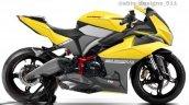 Tvs Ntorq Sportbike Rendering Side