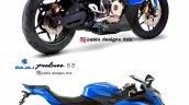 Bajaj Pulsar Ns200 Sportbike Render Blue