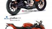 Bajaj Pulsar Ns200 Sportbike Render Red