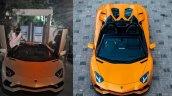 Prabhas Lamborghini Aventador Front View