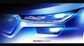 Skoda Kodiaq Facelift Headlamps Sketch