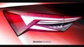 Skoda Kodiaq Facelift Tail Lamps Sketch