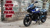 2021 Bajaj Pulsar 220f Blue Colour