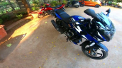 2021 Bajaj Pulsar 220f Blue Front Right