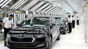 2021 Skoda Octavia Production Line Front 3 Quarter