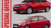 Hyundai Aura Honda Amaze Discounts
