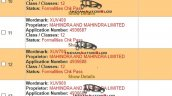 Mahindra Xuv100 Xuv400 Xuv400 Xuv900 Trademark Reg