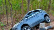 Tata Nexon Accident Front 3 Quarters