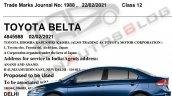 Toyota Belta Yaris Replacement