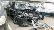 Nissan Magnite Accident Front 3 Quarters