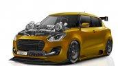 Modified Maruti Swift Twin Turbo Rendering Front 3