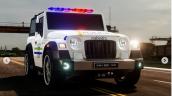 Mahindra Thar Police Jeep Front