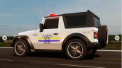 Mahindra Thar Police Jeep Side Profile 2