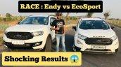 Ford Endeavour Vs Ecosport Rolling Start Drag Race
