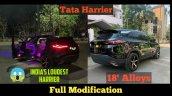 Tata Harrier Modified Black