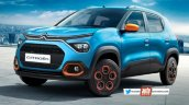 Front Side Look Of Upcoming Citroen Suv